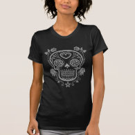 Dark Sugar Skull with Roses Shirts