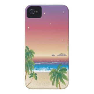 Dark Sunset On The Beach Case-Mate iPhone 4 Cases