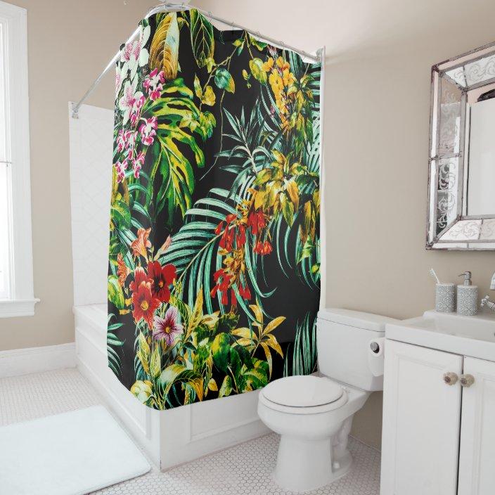 dark wild exotic jungle shower curtain zazzle com