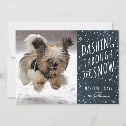 Dashing Through the Snow Holiday Pet Card by Hooray Creative