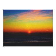 Dawn on the Beach Canvas Prints