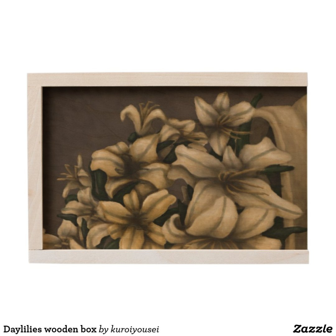 Daylilies wooden box