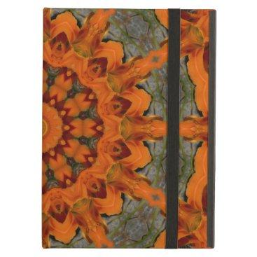 Daylily Orange Mandala iPad Air Cover