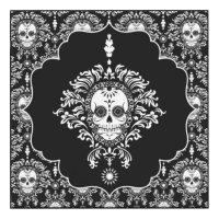 Dead Damask - Chic Sugar Skull Art Panel Wood Print | Zazzle