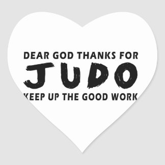 Dear God Thanks For Judo Keep Up Good Work Heart Sticker