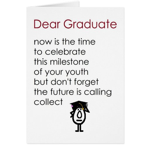 Funny Graduation Poems And Quotes. QuotesGram