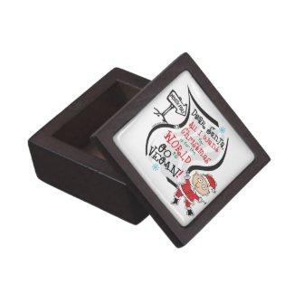 Dear Santa Vegan Wish keepsake box