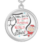 Dear Santa Vegan Wish Silver Plated Necklace