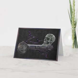 Decorative Skulls Halloween Greeting Card