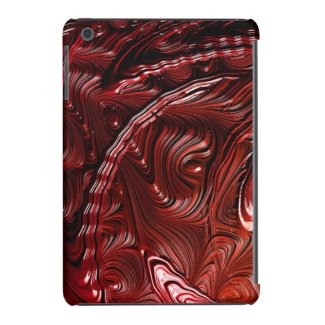 Deep Red Fractal Art Design Ipad Air Case