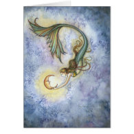 Deep Sea Moon Greeting Card