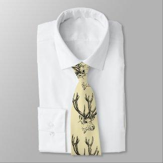 Deer Heads Tie