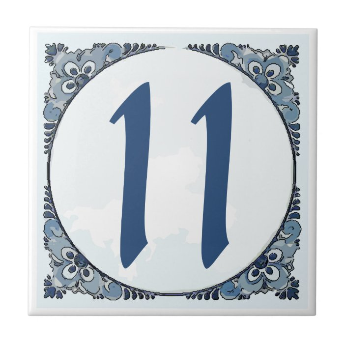 delft look 11 tile house numbers change number ceramic tile zazzle com