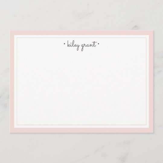 delicate blush personalized stationery