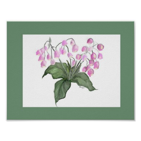 Delicate Pink Bell Flower Plant W/Green Border