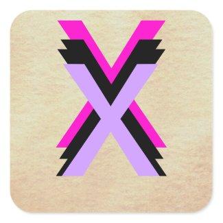 Design 6 X Alphabet Stickers World With Only Words zazzle_sticker