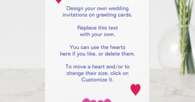 Own Wedding Invitations On Cards
