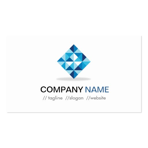 Designer Contemporary Diamond Shape Pattern Business Cards