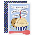Dessert Kids Ice Cream  Birthday Party Invitation