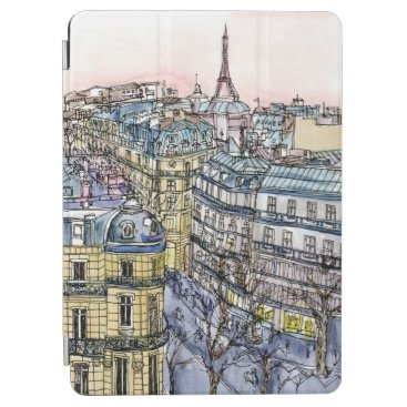 Destinations | Watercolor Eiffel Tower & Paris iPad Air Cover