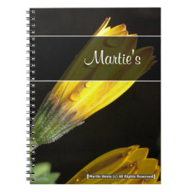 Dew on a Yellow Daisy Notebook