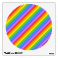 Diagonal Stripes Wall Decals & Wall Stickers   Zazzle