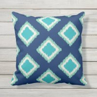 Diamond Pattern | Green and Blue Throw Pillow | Zazzle.com