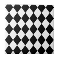 Black Diamond Ceramic Tiles | Zazzle