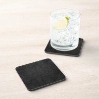 Digital Black Leather Drink Coaster