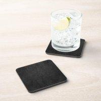 Digital Black Leather Drink Coaster