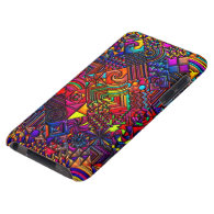 digital quilt modern retro iPod touch Case-Mate case
