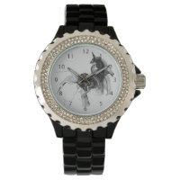 Digital Unicorn Abstract Figure Wristwatch