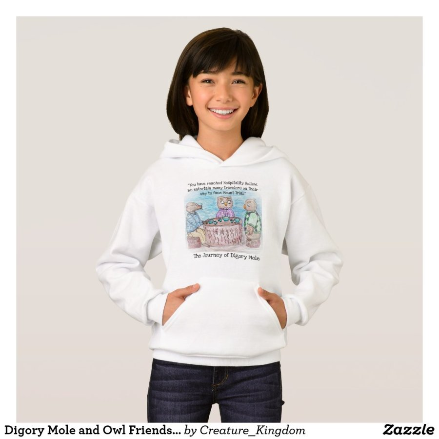 Digory Mole and Owl Friends Hoodie