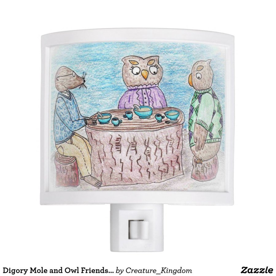 Digory Mole and Owl Friends Nightlight