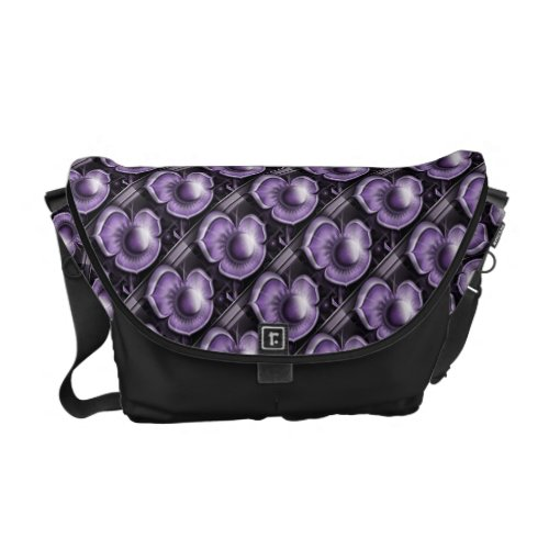 Dimensions of Purple Messenger Bag