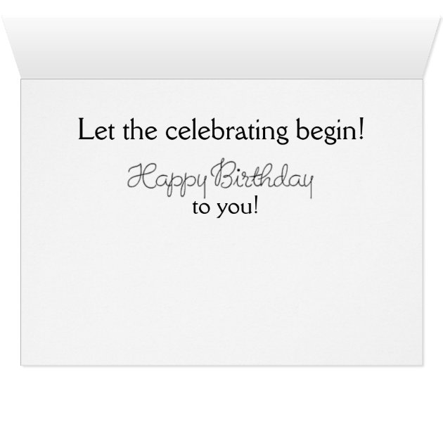 Dinner Is Poured Birthday Card Zazzle