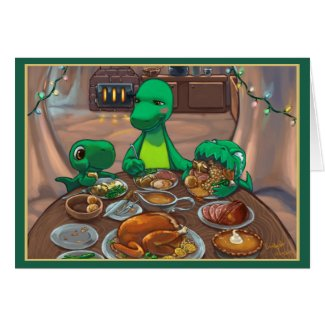 Dinnersaurus Holiday Greeting Card