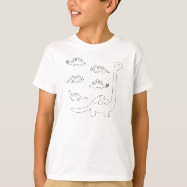 Dinosaur coloring book shirt