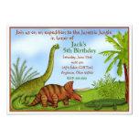 Dinosaur Jurassic Jungle Birthday Invitation