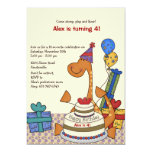 ❤️ Sweet Dinosaur Party Birthday Invitation