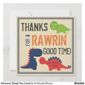 Dinosaur Thank You Cards