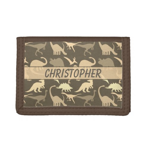 Dinosaurs Personalized Trifold Wallet