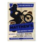 Dirt Bike Motocross Birthday Party Invitation Zazzle Com