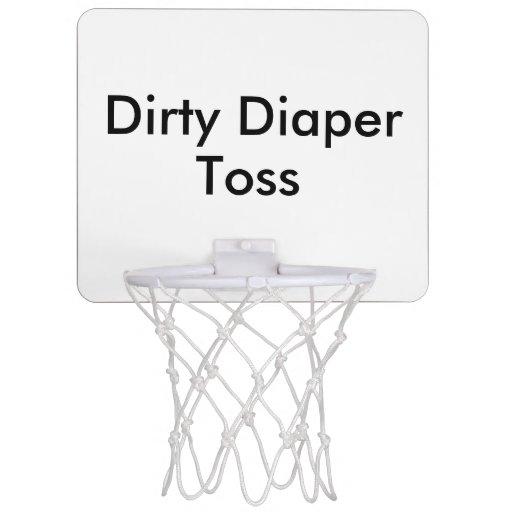 Dirty Diaper Toss Baby Shower Game Mini Basketball Hoop