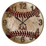 Dirty Unique PERSONALIZED Baseball Clocks