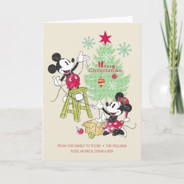 Disney | Mickey & Minnie | Classic Christmas Tree Holiday Card