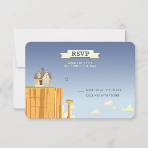 Disney Pixar Up Wedding | RSVP Card