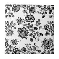 Floral Ceramic Tiles | Zazzle