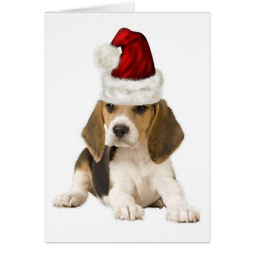 Ditzy Dogs~Original Notecard~Beagle~Christmas