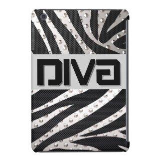 Diva Silver/Blk Metal Texture Ipad Air Cases
